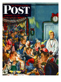 """Midnight and Nobody to Kiss "" Saturday Evening Post Cover  December 31  1949"