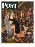 &quot;Attic Treasure &quot; Saturday Evening Post Cover  June 7  1947