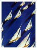 """""""Sailboat Regatta,"""" June 29, 1940 Giclée par Ski Weld"""