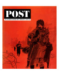 """From Behind the Iron Curtain "" Saturday Evening Post Cover  February 9  1963"
