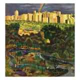 """Central Park Rainbow "" April 30  1949"
