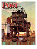 &quot;Chuckwagon &quot; Saturday Evening Post Cover  September 14  1946