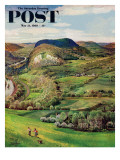 """Green Moutains "" Saturday Evening Post Cover  May 21  1960"