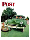 """Flat and Chat "" Saturday Evening Post Cover  May 21  1949"