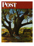 """Sleeping Farmer "" Saturday Evening Post Cover  August 23  1947"