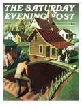 """Re print of ""Spring 1942"" "" Saturday Evening Post Cover  April 18  1942"