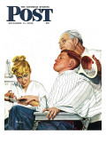 &quot;Haircut and Manicure &quot; Saturday Evening Post Cover  December 11  1948
