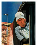 """Freight Train Engineer "" June 3  1944"