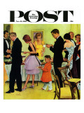 """Hitting the Buffet "" Saturday Evening Post Cover  November 11  1961"