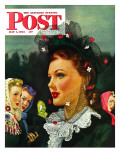 """War Widow "" Saturday Evening Post Cover  May 1  1943"