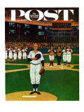 &quot;Baseball Fight &quot; Saturday Evening Post Cover  April 28  1962