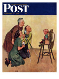 """Baby Picture "" Saturday Evening Post Cover  February 19  1949"