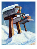 """Mailboxes in Snow "" December 27  1941"
