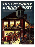 """Fireman's Ball "" Saturday Evening Post Cover  February 1  1982"