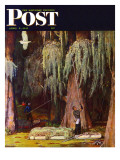"""Spanish Moss pickers "" Saturday Evening Post Cover  April 5  1947"