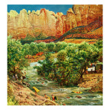 """Zion Canyon "" July 9  1960"