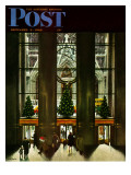"""St Patrick's Cathedral at Christmas "" Saturday Evening Post Cover  December 3  1949"