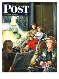 """TV Date "" Saturday Evening Post Cover  October 1  1949"
