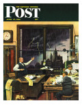 """Weatherman Was Right "" Saturday Evening Post Cover  April 27  1946"