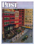 """Gramercy Park "" Saturday Evening Post Cover  March 25  1944"