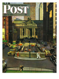 """Pershing Square "" Saturday Evening Post Cover  May 19  1945"