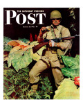 """Jungle Commando "" Saturday Evening Post Cover  October 24  1942"