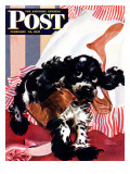 """Butch and the Nylons "" Saturday Evening Post Cover  February 15  1947"