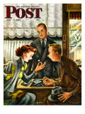 """Engagement Ring "" Saturday Evening Post Cover  May 7  1949"