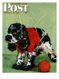&quot;Butch and Knitted Sweater &quot; Saturday Evening Post Cover  September 28  1946