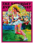 """Girl tennis player "" Saturday Evening Post Cover  May/June 1976"