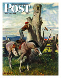 """Boy on Horse "" Saturday Evening Post Cover  July 30  1949"