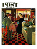 """Bermuda Shorts "" Saturday Evening Post Cover  March 12  1960"