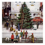 """Tree in Town Square,"" December 4, 1948 Giclée par Stevan Dohanos"