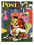 """Hitler as Wallpaperer "" Saturday Evening Post Cover  July 31  1943"