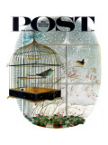 """Birdtalk "" Saturday Evening Post Cover  January 6  1962"
