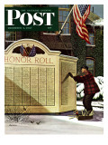 &quot;Honoring the Dead &quot; Saturday Evening Post Cover  December 4  1943