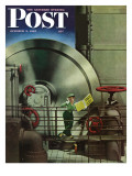 """How to Operate a Power Plant "" Saturday Evening Post Cover  October 2  1943"