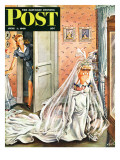 """Wedding Dress-Up "" Saturday Evening Post Cover  June 1  1946"