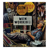 """Men Working "" April 12  1947"