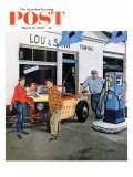 """Gas Money "" Saturday Evening Post Cover  March 26  1960"