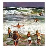 """""""Surf Swimming,"""" August 14, 1948 Giclée par John Falter"""
