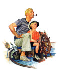 """Father Teaching Son to Sail "" August 30  1941"