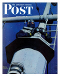 """Naval Lookout "" Saturday Evening Post Cover  November 7  1942"
