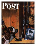 """Patient Dog "" Saturday Evening Post Cover  December 12  1942"