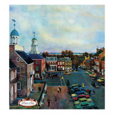 """Town Square  New Castle Delaware "" March 17  1962"