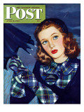 &quot;April Shower &quot; Saturday Evening Post Cover  April 8  1944
