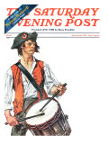 """Re-print of ""Colonial Drummer"" "" Saturday Evening Post Cover  July/Aug 1976"