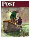 &quot;Fishing with Nets &quot; Saturday Evening Post Cover  May 28  1949