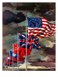"""Allied Forces Flags "" July 3  1943"