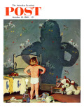 """Big Shadow  Little Boy "" Saturday Evening Post Cover  October 22  1960"